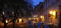 Staré elektrické osvětlení ve Sněmovní ulici v Praze