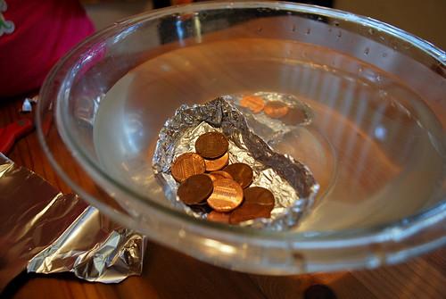 floating pennies