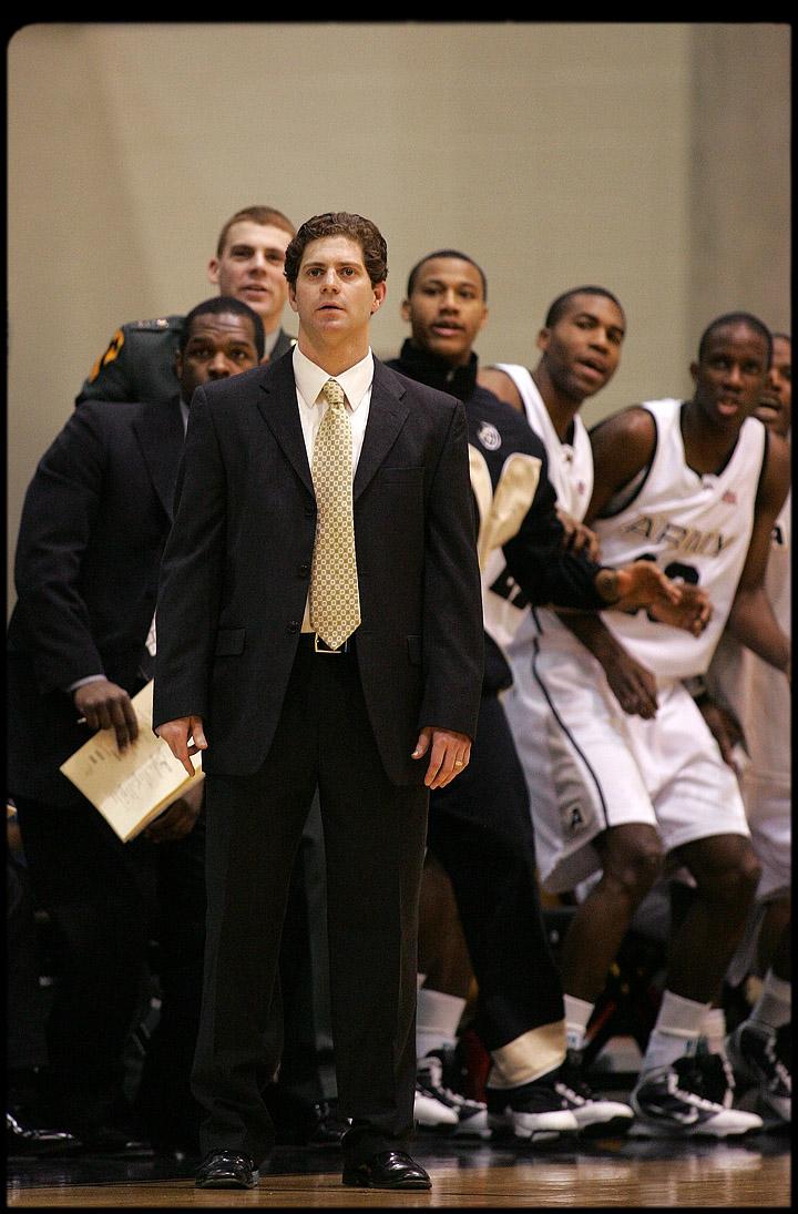 Army coach Zack Spiker