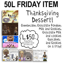 -RC- 50L FRIDAY ITEM - Thanksgiving Dessert!