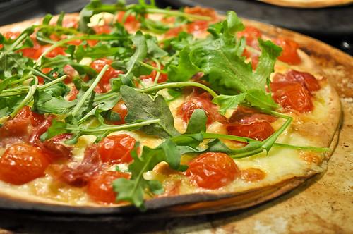 Cherry Tomato, Pancetta and Bocconcini Pizza