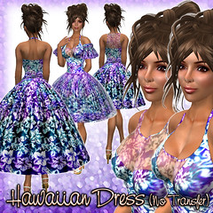 Hawaiian Dress (Purple-multi)