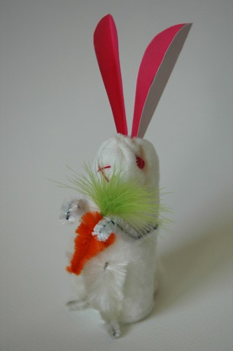 Vintage-style Cotton Batting Bunny