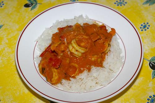 Simple prawn curry by La belle dame sans souci