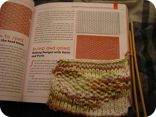 knit heart practice