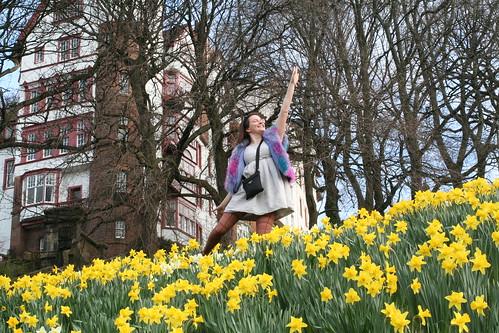Alicia Dancing in the Daffodils
