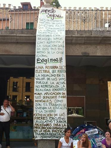 Los Indignados Segovia