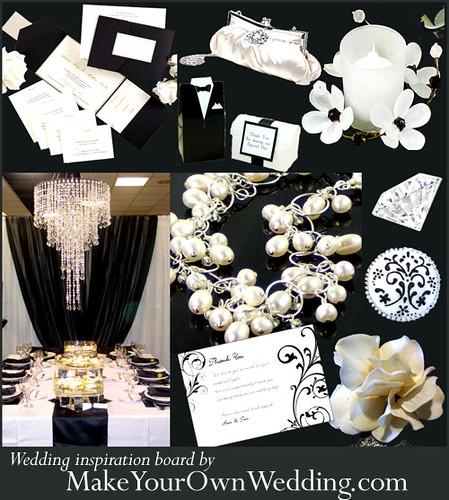 4046117138 bb509c12b9 Baú de ideias: Decoração de casamento preto e branco