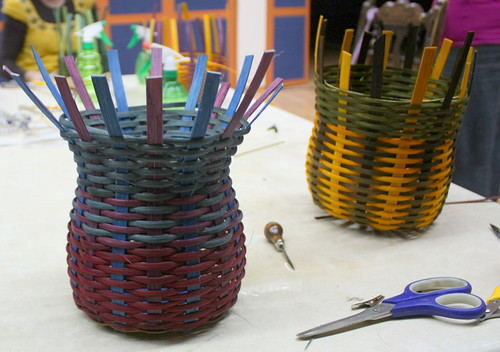 Baskets in progress