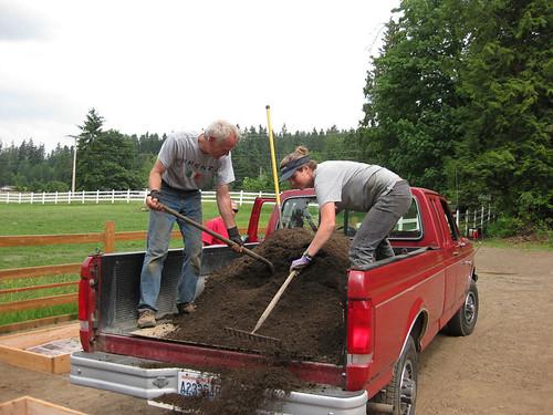 Shoveling dirt (one of 20 loads)
