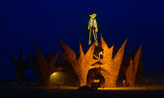 Burning Man at Twilight 2009