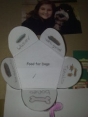 Poppy's 'Puppies' lapbook - Food list