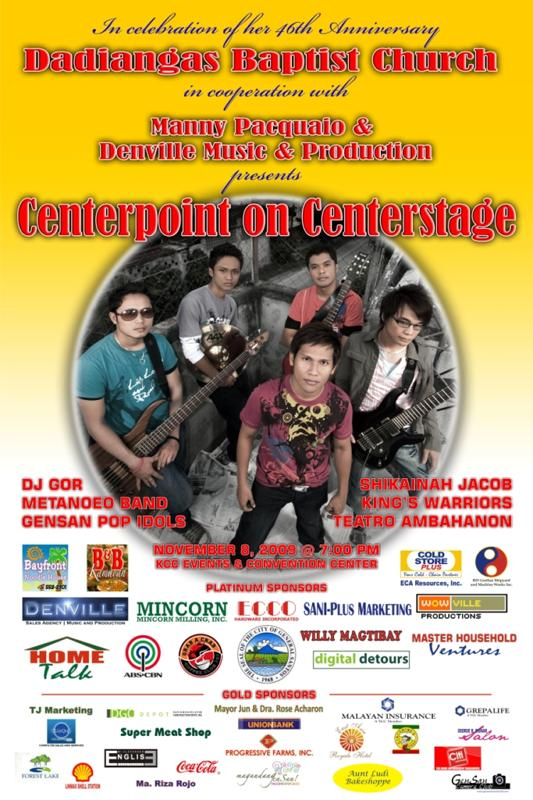 Centerpoint Band in Concert Poster