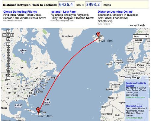 Iceland to Haiti