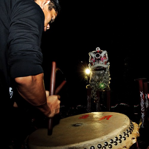 beat of the drum (lion dance)