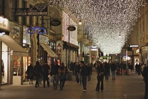 Festive street, Vienna