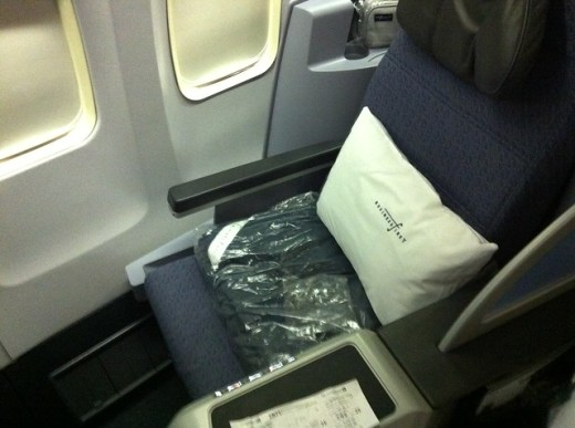 Continental United Airlines Business First Flat Bed Seat