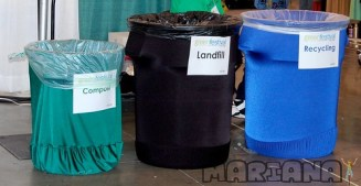 Green Festival: Recycling and compost bins