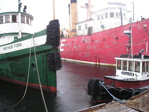 The tugboat ARTHUR FOSS, tugboat SKILLFUL, and Lightship #83