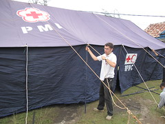 Errecting the Tent
