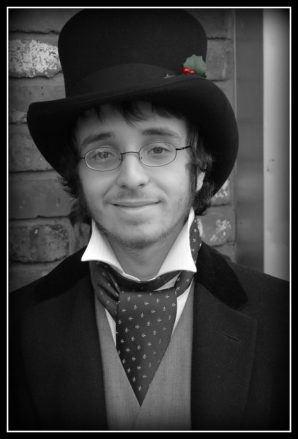 Victorian Gentleman with Holly