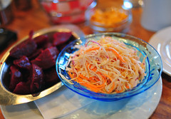 Sides: Marinated Beets and Coleslaw