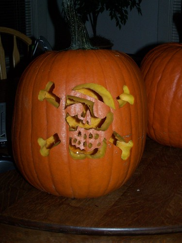 Arggghhh- Matt and My pirate pumpkin!