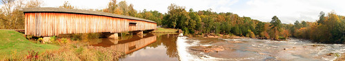 Watson Mill Covered Bridge Panorama