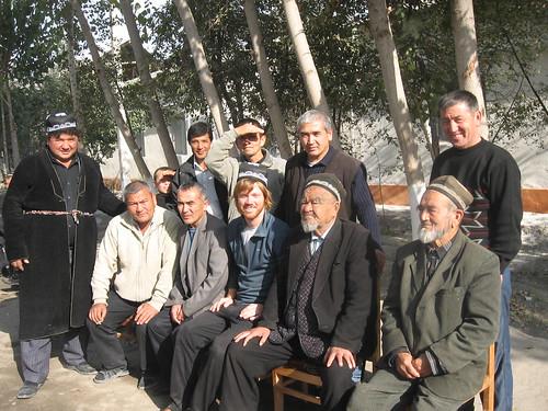 Si with village elders