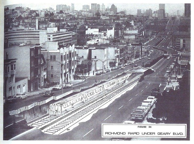Coordinated Transit for the San Francisco Bay Area: Richmond Rapid under Geary Blvd (1967)