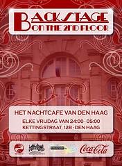 Flyer Backstage nightbar Den Haag