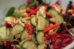 salad, dressed
