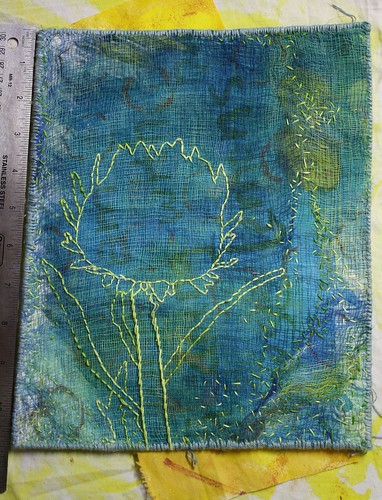 cardoon flower embroidery 2