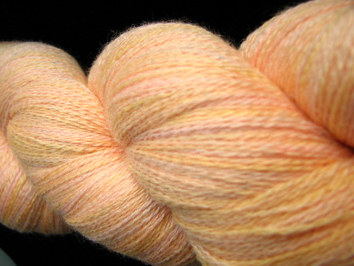 Apricot - Zephyr Hand Dyed Lace Yarn
