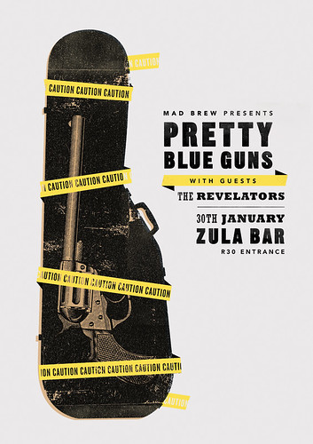 Pretty Blue Guns - Dangerous Weapon by Adam the Velcro Suit.