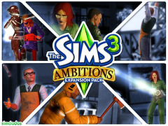 Simciados - 2 fanmade wallpapers of The Sims 3 Ambitions