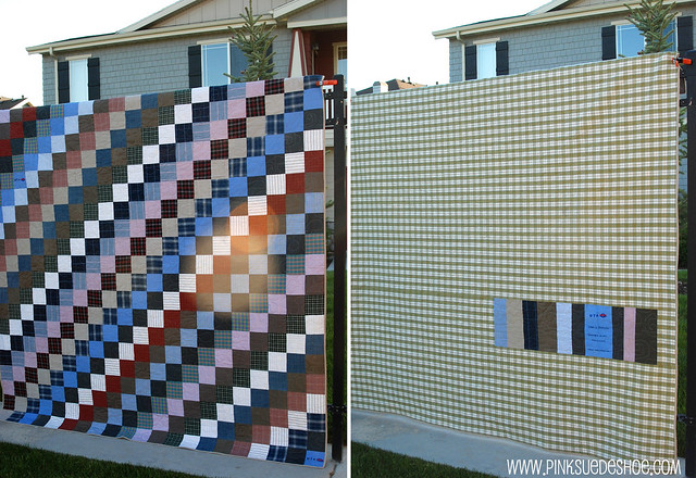 quilt front and back