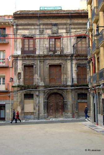 Casa-palacio del Marqués de Rozalejo, en la calle Navarrería de Pamplona