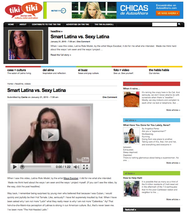 Latina Role Model on Tiki Tiki