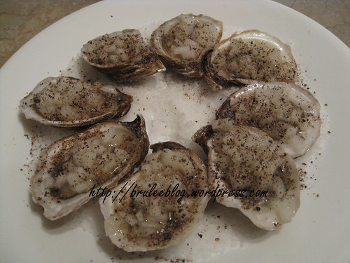 Momofuku fresh oysters with a pickled Asian pear mignonette