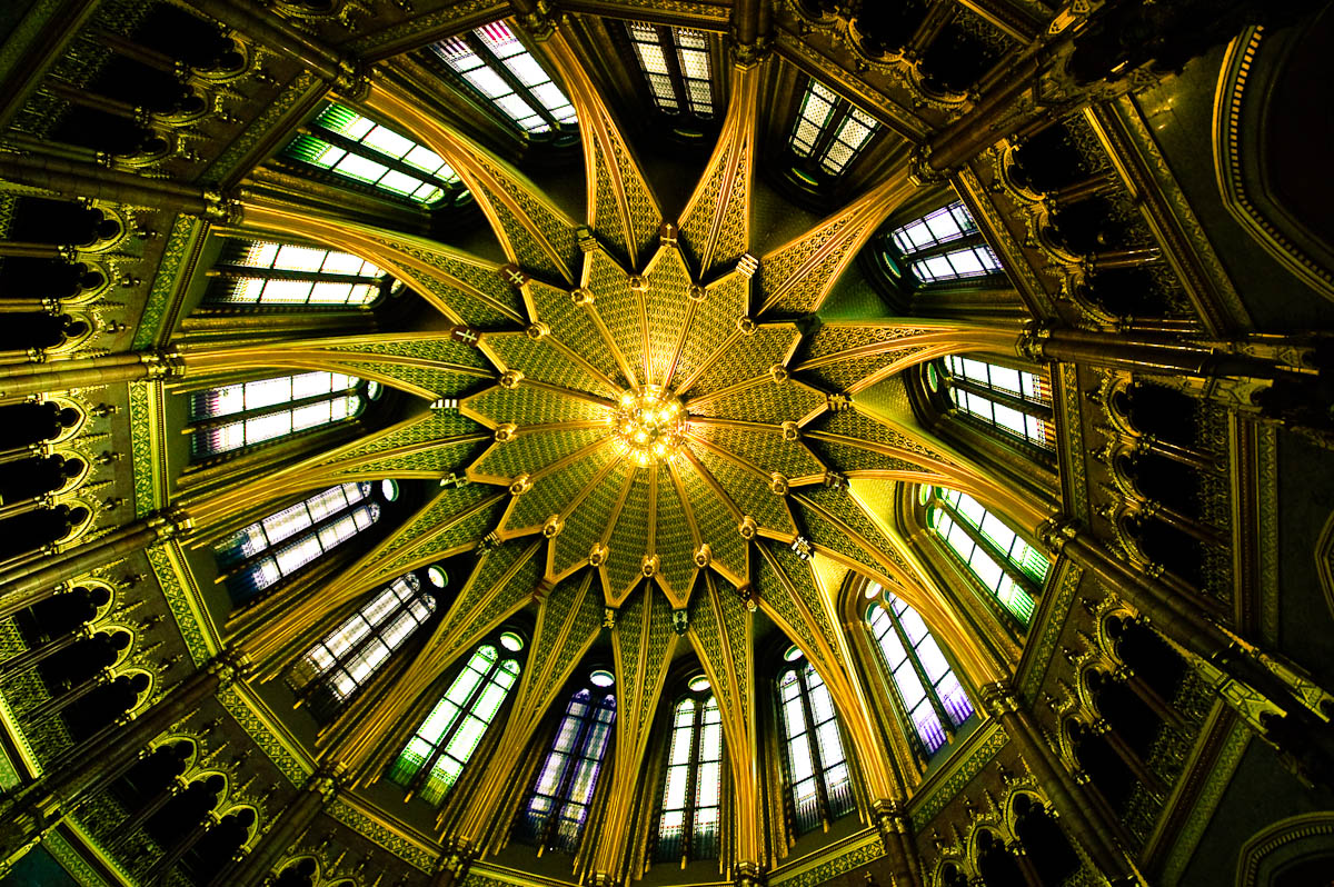 Domed roof of Hungarian parliament building