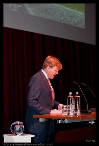 Z.K.H. Prins Willem Alexander in Agora Lelystad (09-04-2010).