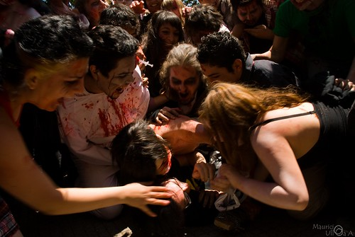 Zombies Attacking People.