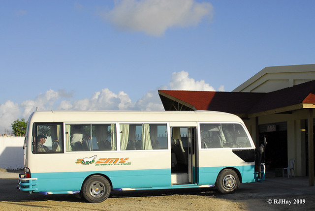 Our tour bus for the day - 17 adults, a guide and a driver - THE FAMILY