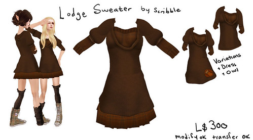 Scribble - Lodge Sweater in Brown