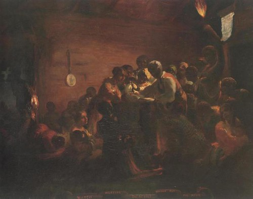 'Watch Night: Waiting for the Hour' ('Watch Meeting — Dec. 31st, 1862'), by William Tolman Carlton