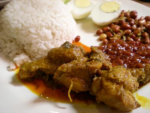 Nasi lemak breakfast 3