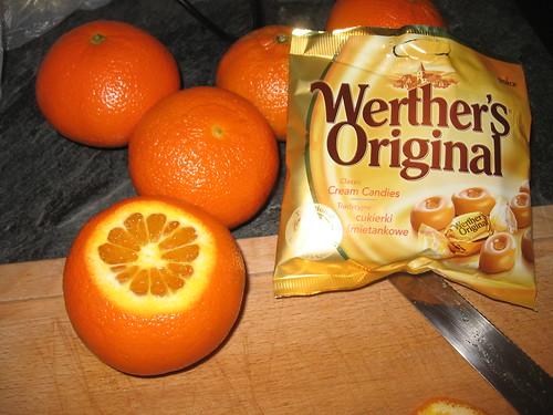 Caramel Oranges- Step 1