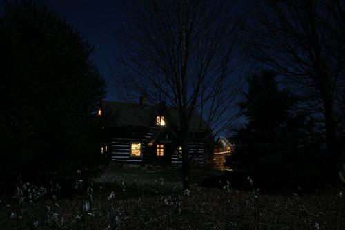 Full moon on house