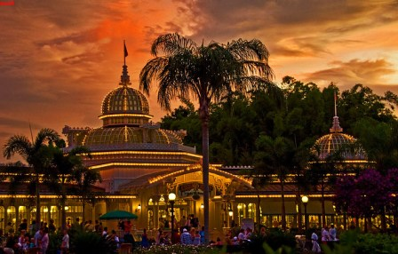 Walt Disney World - Magic Kingdom - Crystal Palace Sunset